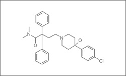 Diagram of the molecular structure of Loperamide