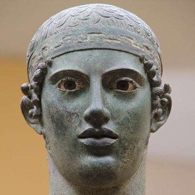 Statue from the the Delphi museum
