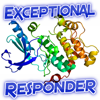 exceptional responder graphic with protein fragment