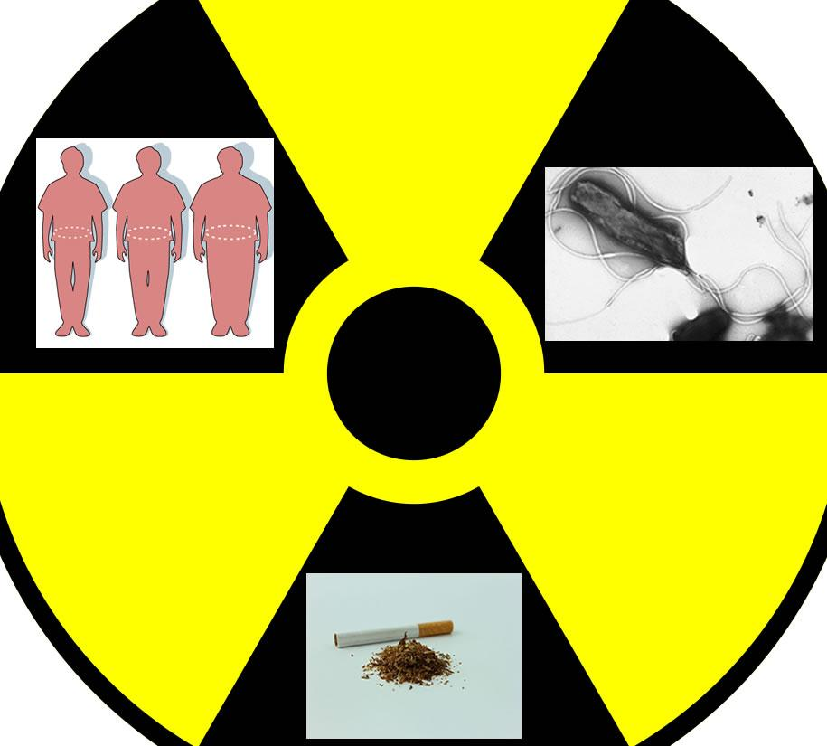 Illustration depicting some of the causes of cancer