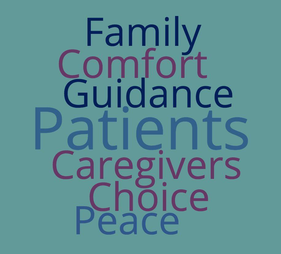 Word cloud of terms related to CancerQuest