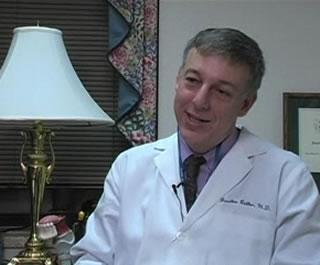 Jonathan Beitler sitting in office